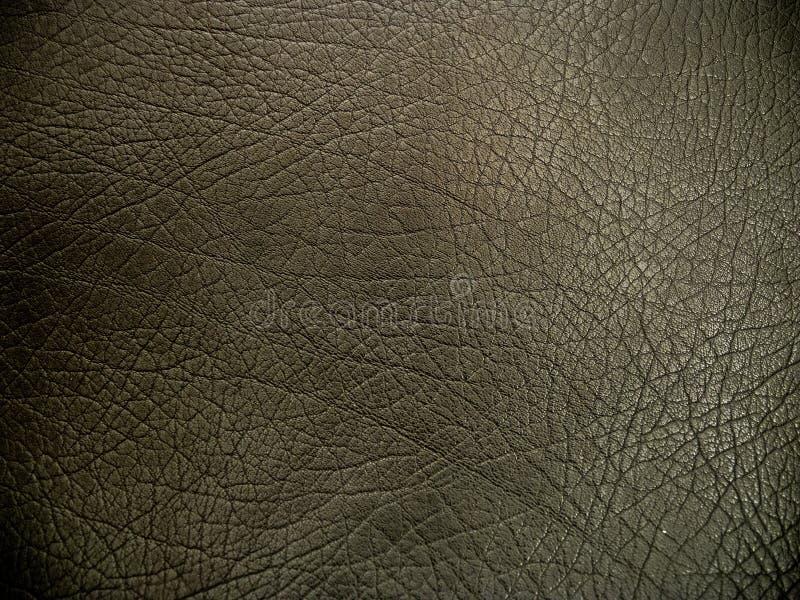 深黑色皮革背景纹理 免版税库存照片