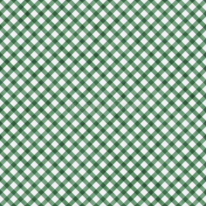 深绿方格花布样式重复背景 皇族释放例证