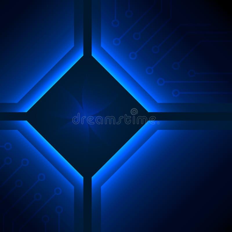 深刻的蓝色抽象背景。 皇族释放例证