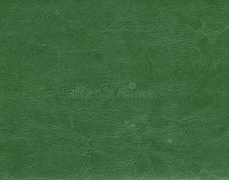 深绿皮革纹理 图库摄影