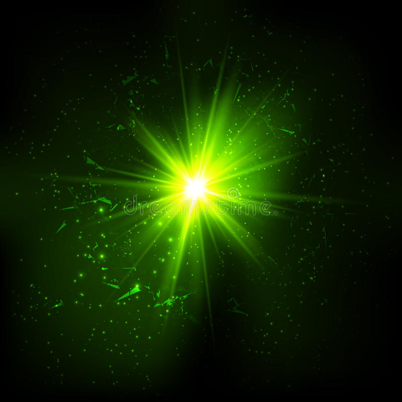 深绿空间向量爆炸 库存例证