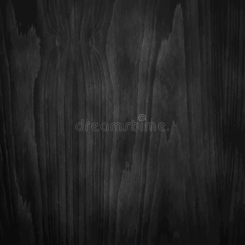 深黑色木头纹理 皇族释放例证