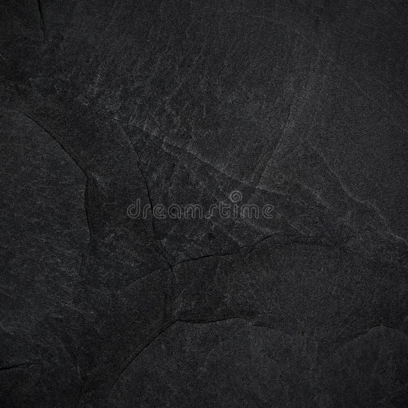 深黑色板岩背景或纹理 库存图片