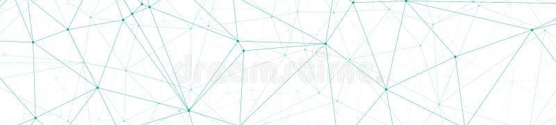 混乱三角塑造数字导线,创造性的图表横幅连接了小点,并且线导航例证,白色背景 向量例证
