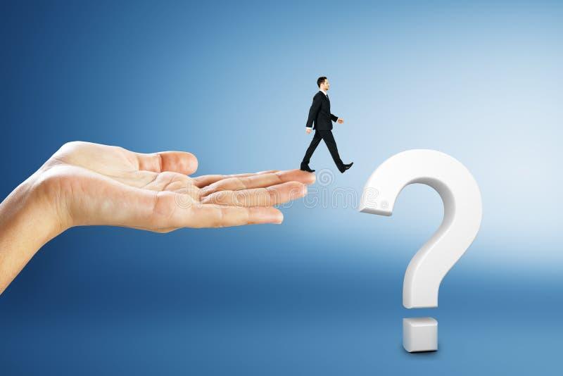 混乱和常见问题解答概念 免版税库存照片