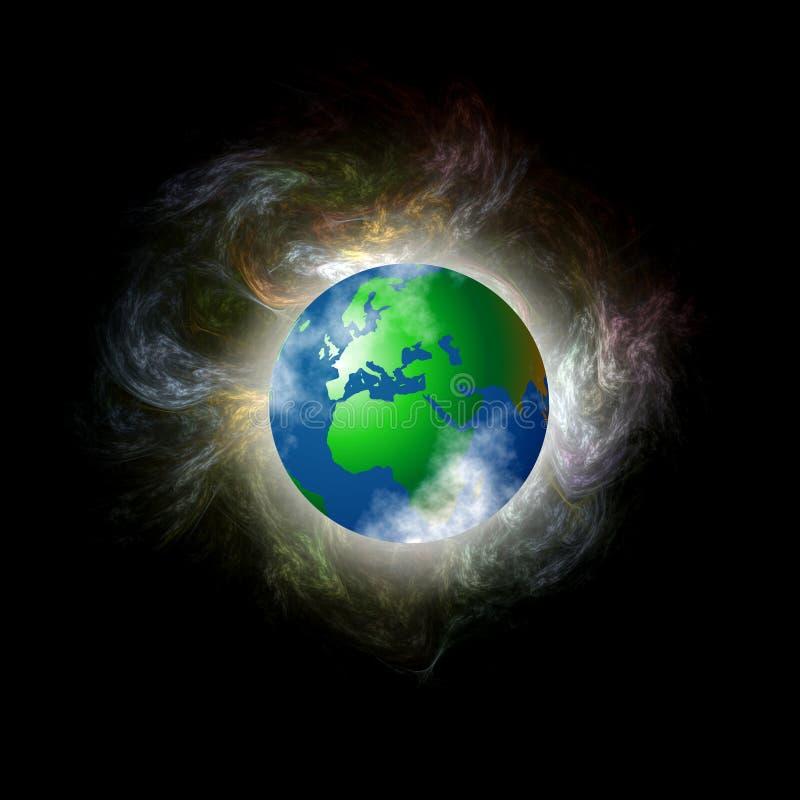 混乱地球 库存图片