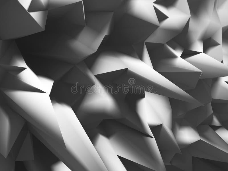 混乱多角形安心样式墙壁背景 皇族释放例证
