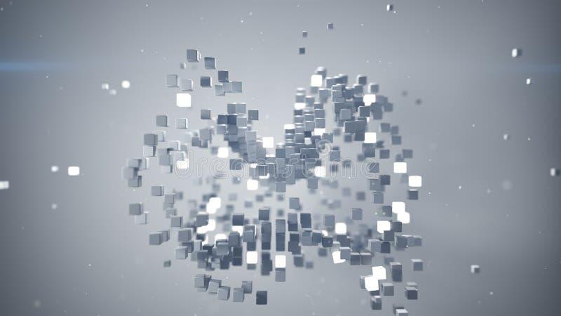 混乱捆绑立方体3D翻译 皇族释放例证