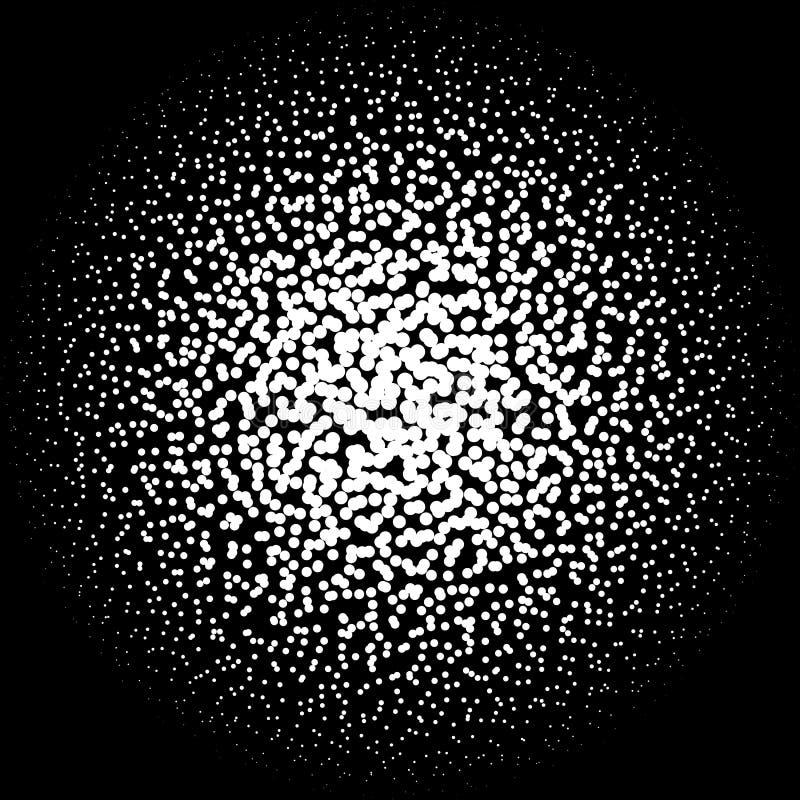 混乱点彩派画家中间影调圈子样式 加点任意 向量例证