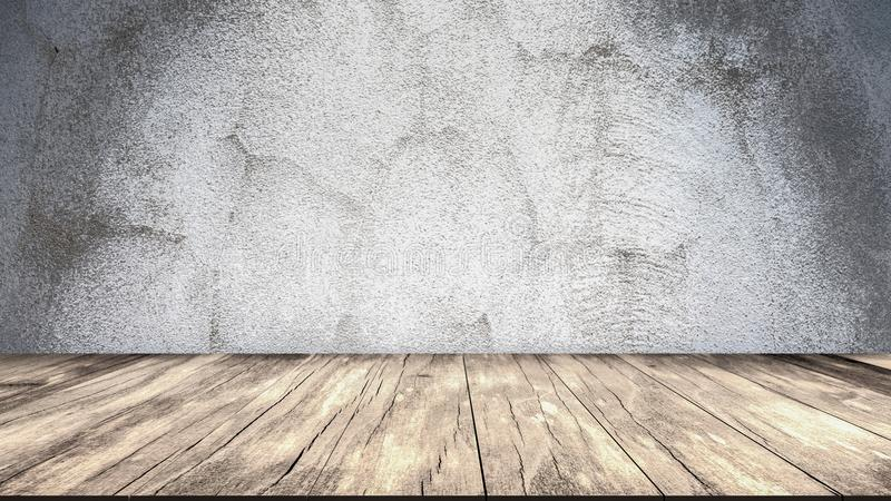 混凝土墙和木楼层 向量例证