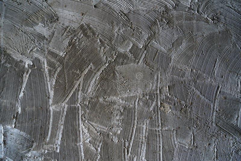 混凝土墙梳子表面 免版税库存照片