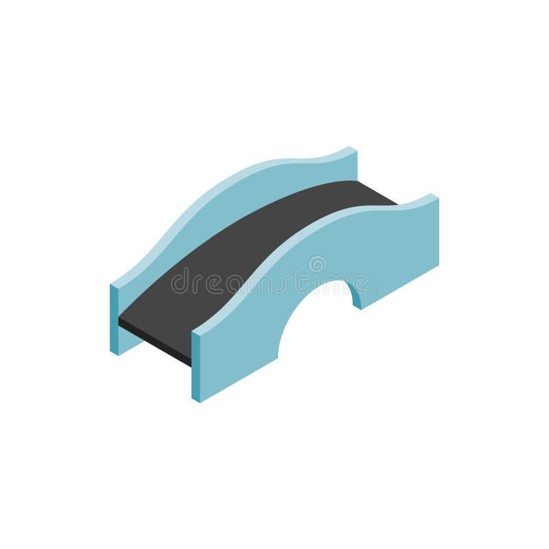 混凝土成拱形桥梁象,等量3d样式 向量例证