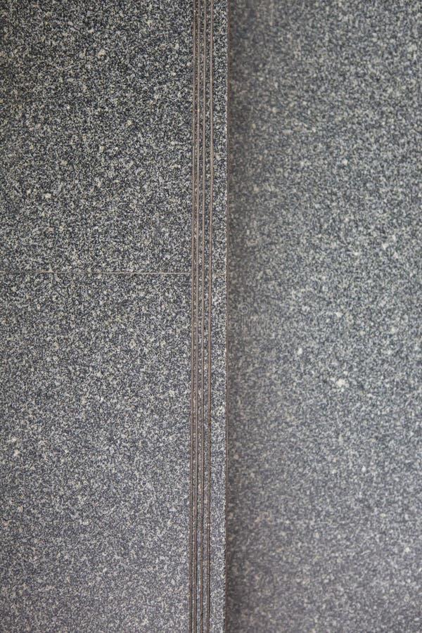 混凝土或花岗岩楼梯顶视图  免版税库存照片