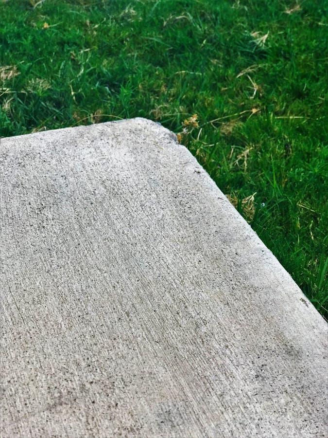 混凝土板的角落 免版税库存图片
