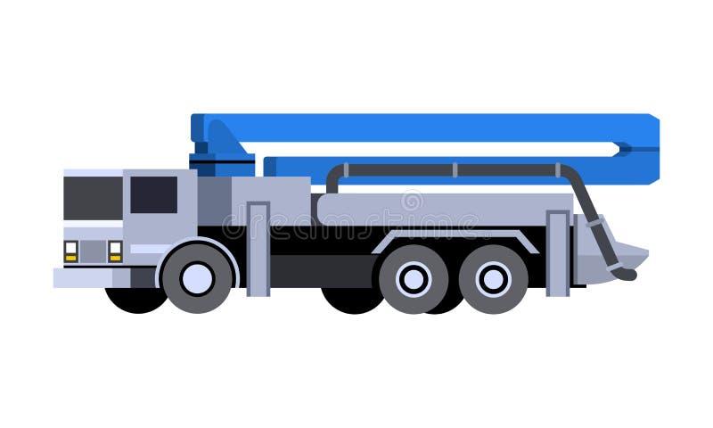混凝土泵车象 向量例证