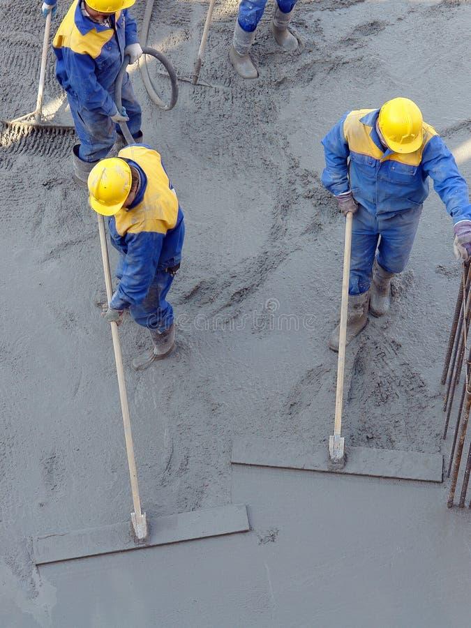 混凝土混合料分布 免版税库存图片