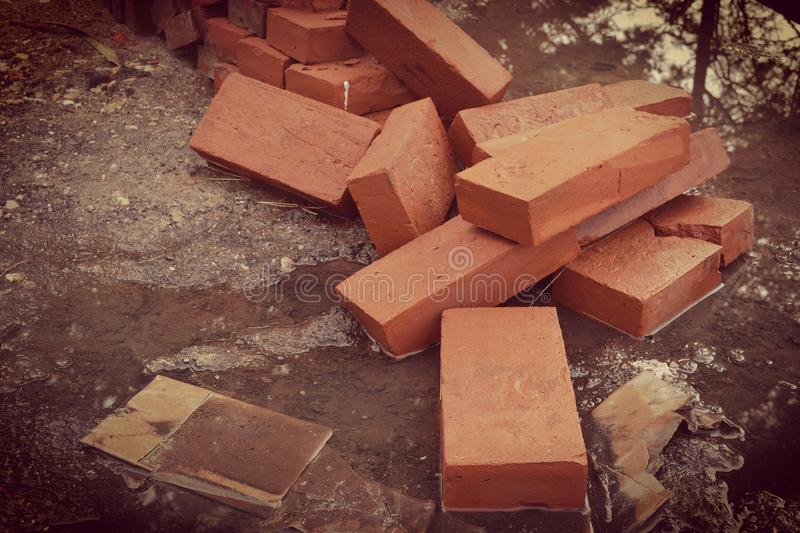 混凝土的铁 库存照片