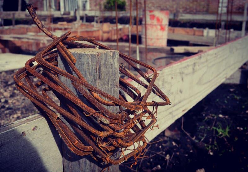 混凝土的铁 图库摄影