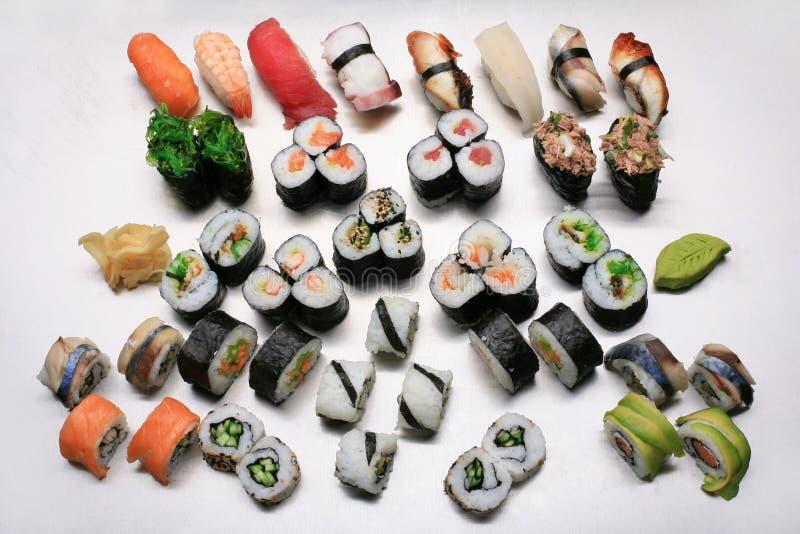 混合寿司 库存图片
