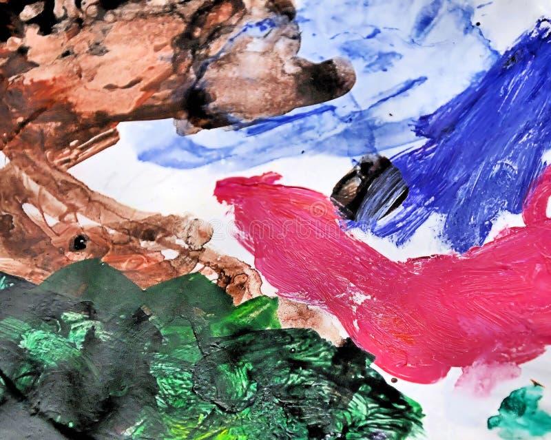 混合油漆调色板 免版税库存照片