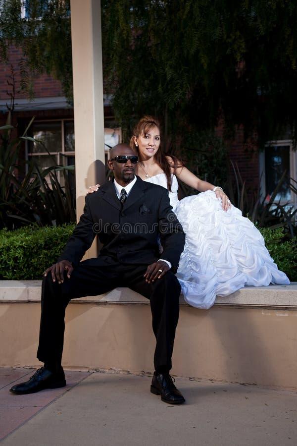 混合的族种夫妇 免版税库存照片
