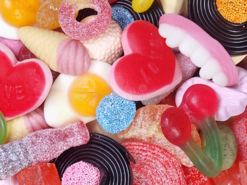混合的糖果 免版税库存图片