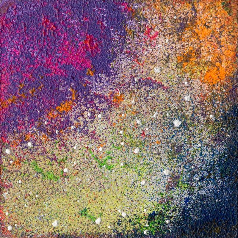 混合的颜色艺术品 免版税库存照片