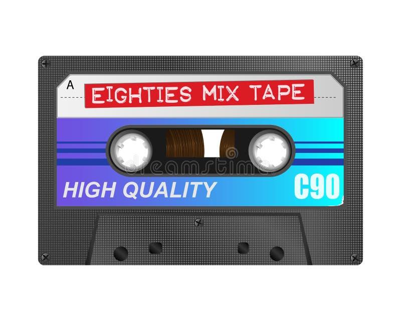 80混合磁带 向量例证