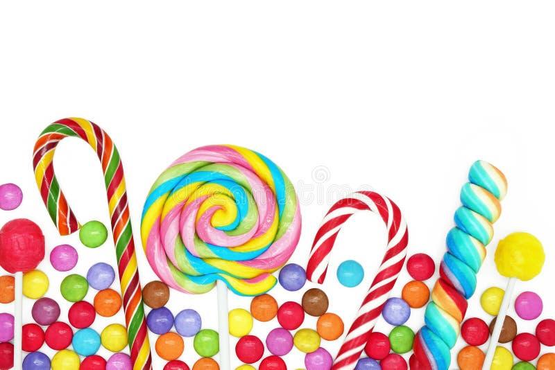 混杂的五颜六色的糖果 图库摄影