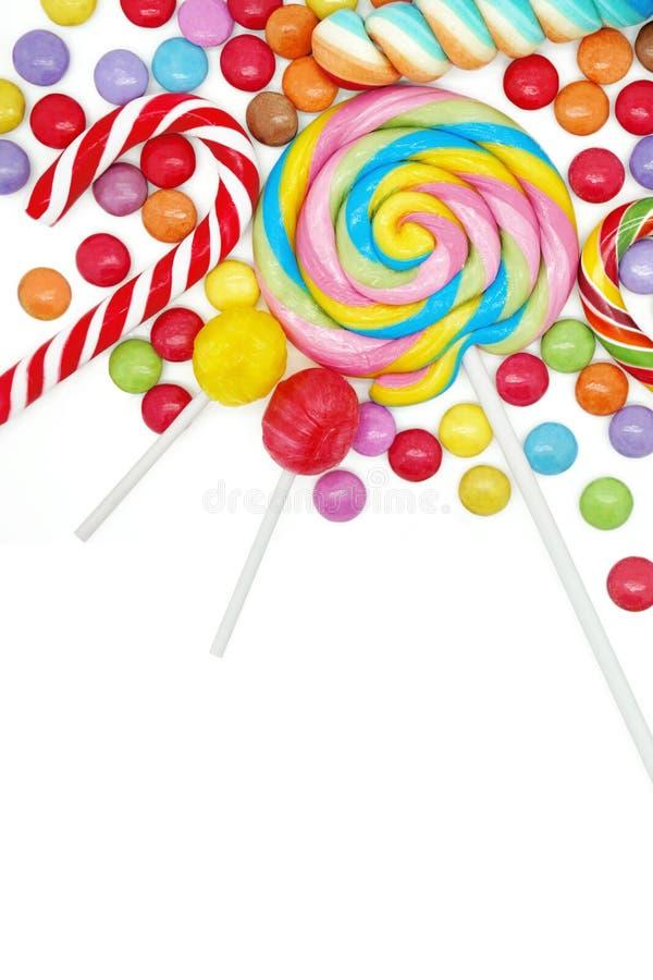 混杂的五颜六色的糖果 库存照片