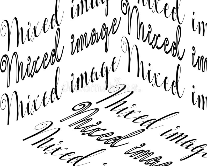 混杂的图象题字 皇族释放例证