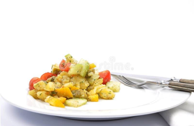 混杂的土豆沙拉 免版税库存照片