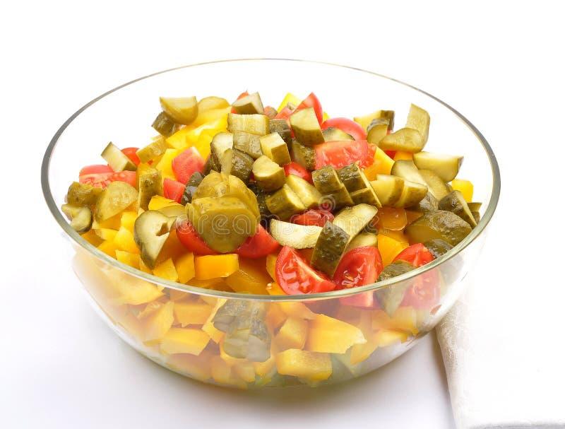 混杂的土豆沙拉 免版税库存图片