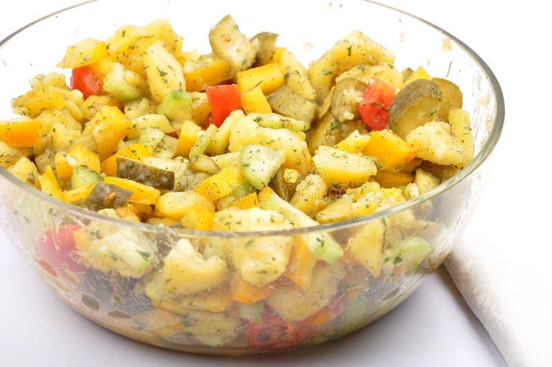 混杂的土豆沙拉 免版税图库摄影