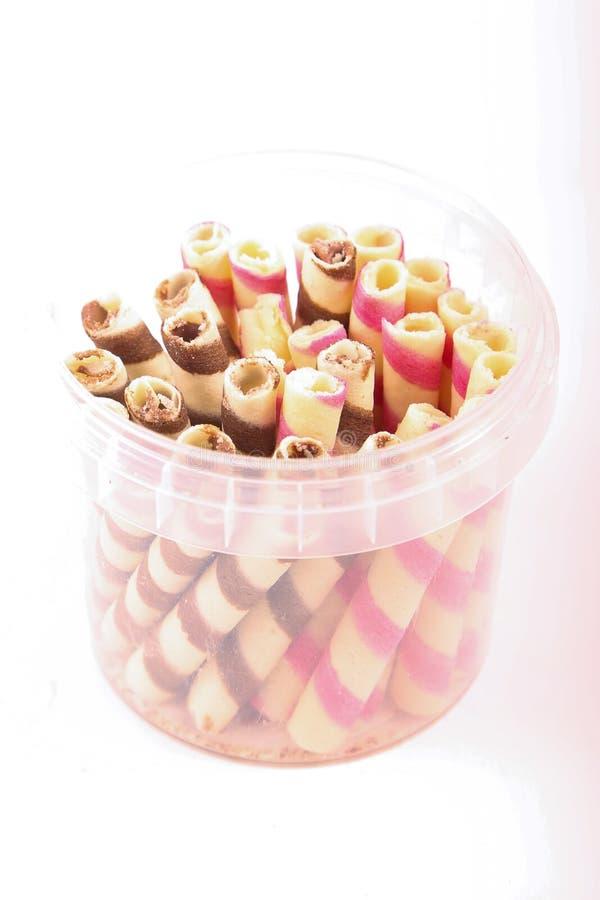 混杂的糖果箱子 库存图片