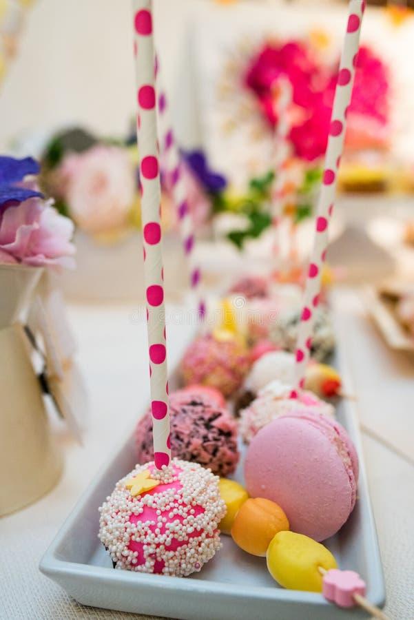 混杂的色的甜点 图库摄影