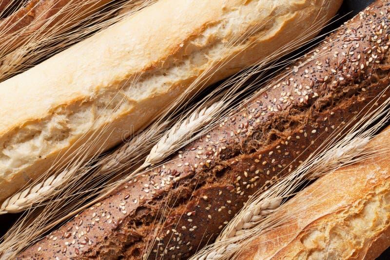 混杂的面包特写镜头 免版税库存图片