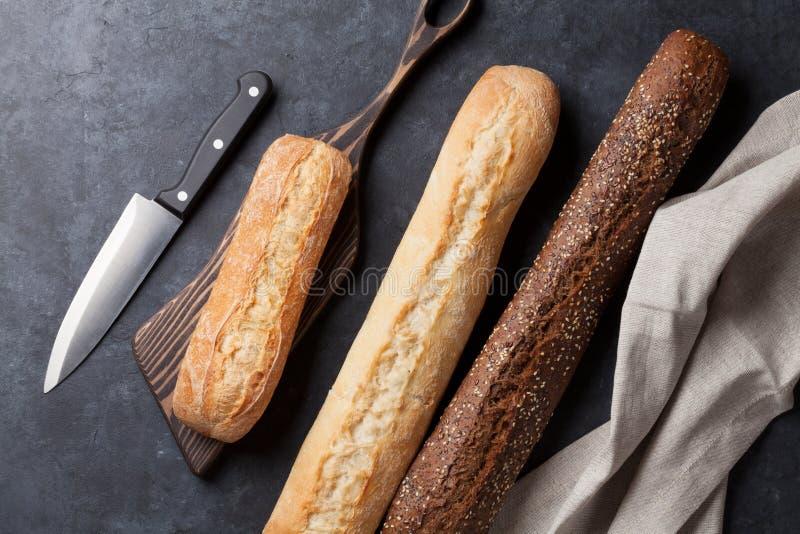 混杂的面包 免版税库存照片