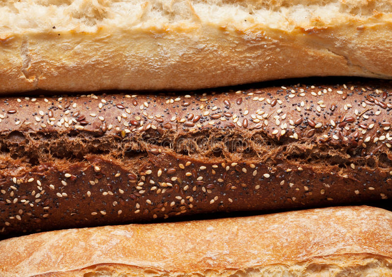 混杂的面包 图库摄影