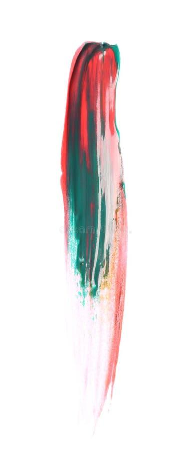 混杂的颜色油漆抽象绘画的技巧  库存图片