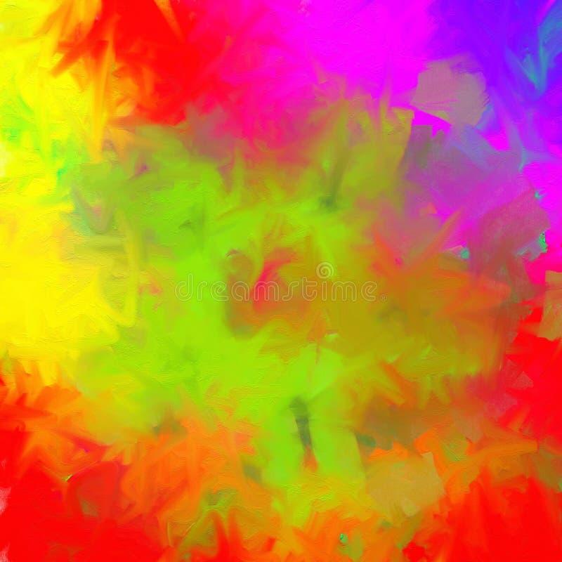 混杂的颜色绘了背景 向量例证