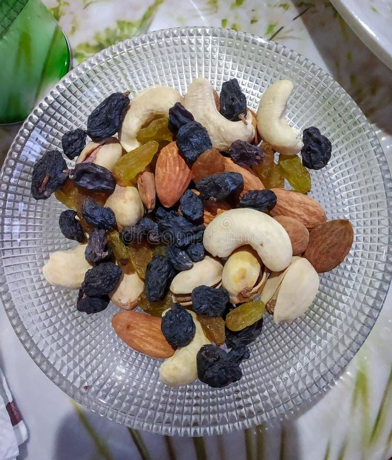 混杂的dryfruits 库存图片