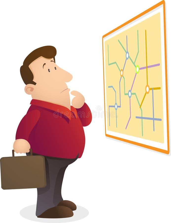 混淆地图判读 库存例证
