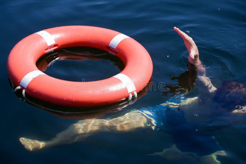 淹没人员 免版税库存照片