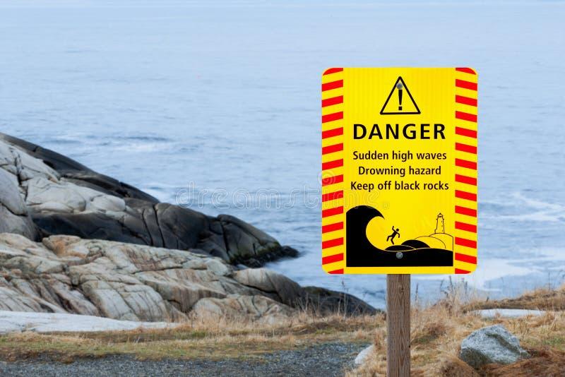 淹没危险标志 免版税库存照片