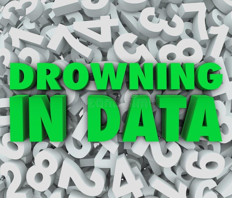 淹没在数据许多压倒多数信息 皇族释放例证