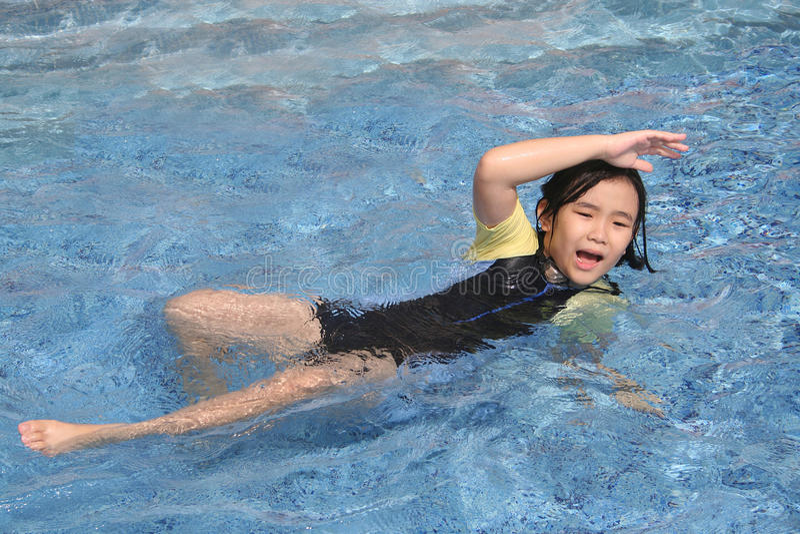 淹没女孩 免版税库存照片