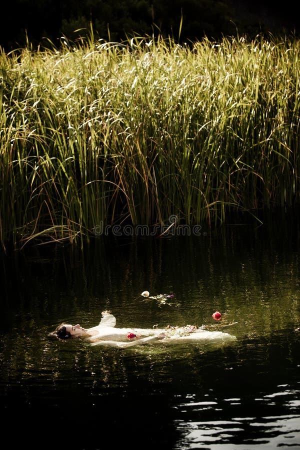 淹没妇女 免版税库存图片