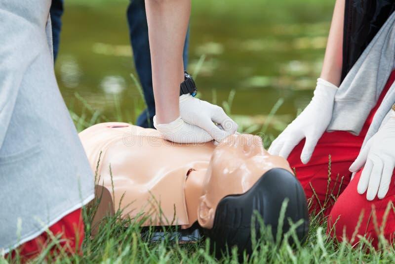 淹没急救 CPR 免版税库存图片