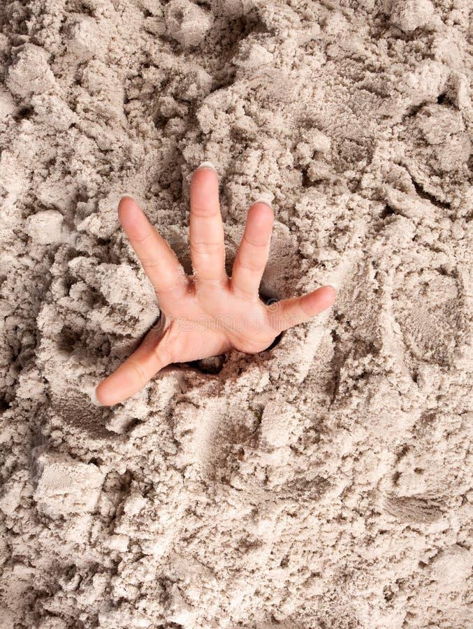 淹没沙子 免版税库存照片